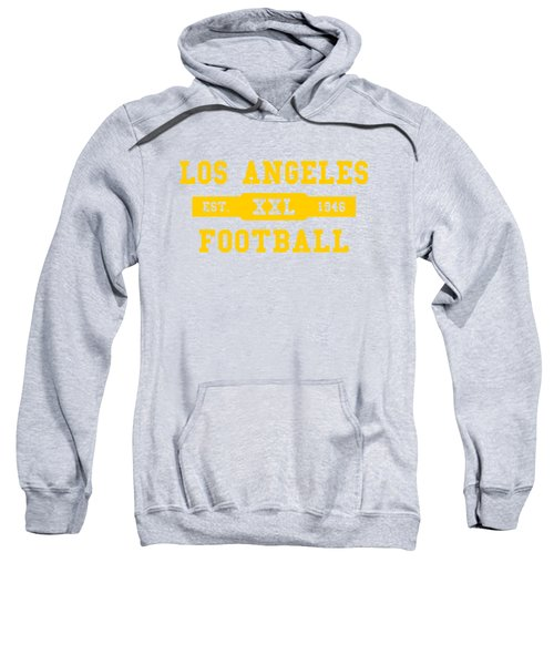 Los Angeles Rams Retro Shirt Sweatshirt by Joe Hamilton