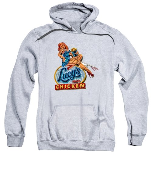 Lucys Fried Chicken Tee Sweatshirt by Edward Fielding