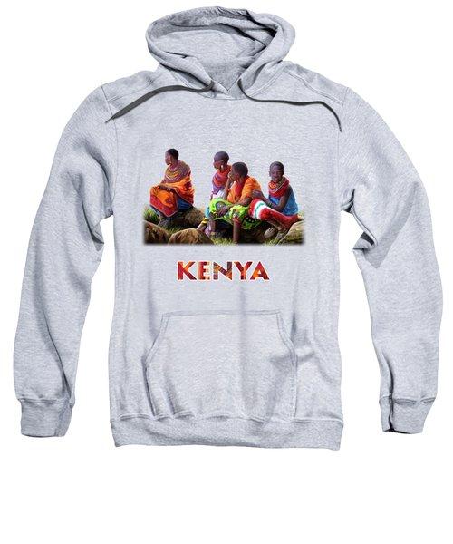Maasai Women Sweatshirt by Anthony Mwangi