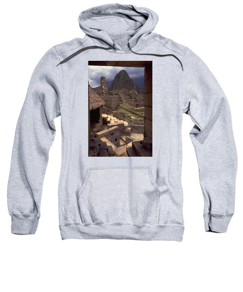Sweatshirt featuring the photograph Machu Picchu by Travel Pics