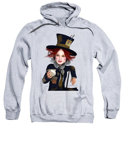 Mad Hatter Portrait Sweatshirt by Methune Hively