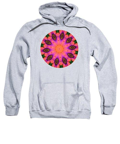 Mandala Salmon Burst - Prints With Salmon Color Background Sweatshirt by Hao Aiken