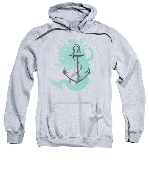 Mermaid And Anchor Sweatshirt by Sandra McGinley