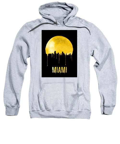 Miami Skyline Yellow Sweatshirt by Naxart Studio