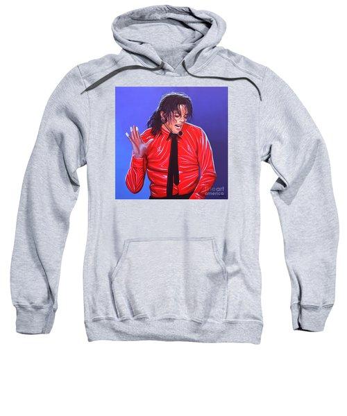 Michael Jackson 2 Sweatshirt by Paul Meijering