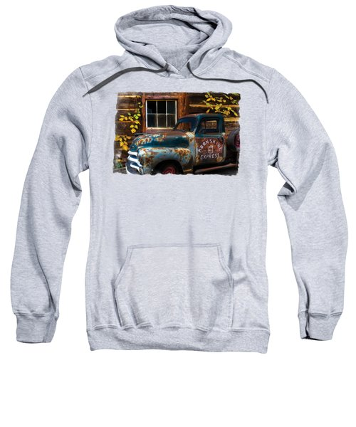 Moonshine Express Bordered Sweatshirt by Debra and Dave Vanderlaan