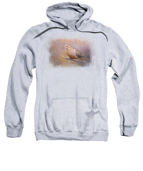 Mourning Dove On A Winter Evening Sweatshirt by Jai Johnson