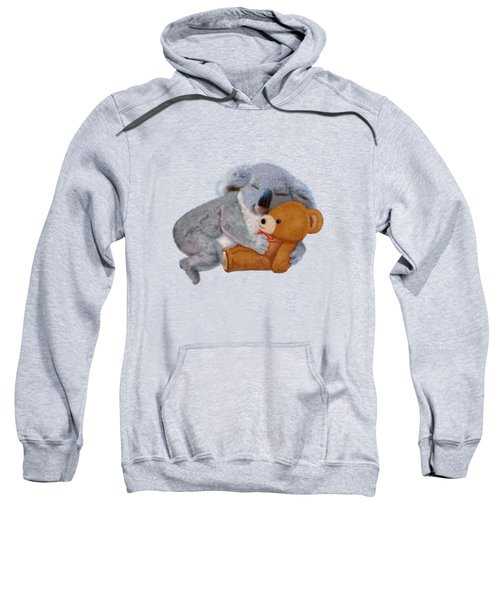 Naptime With Teddy Bear Sweatshirt by Glenn Holbrook