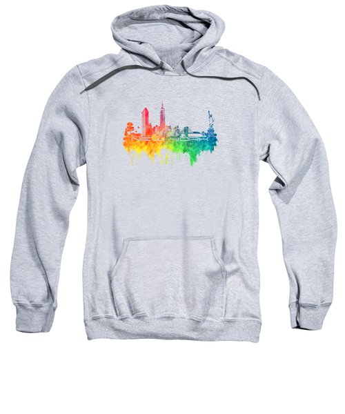 New York City Skyline Color Sweatshirt by Justyna JBJart