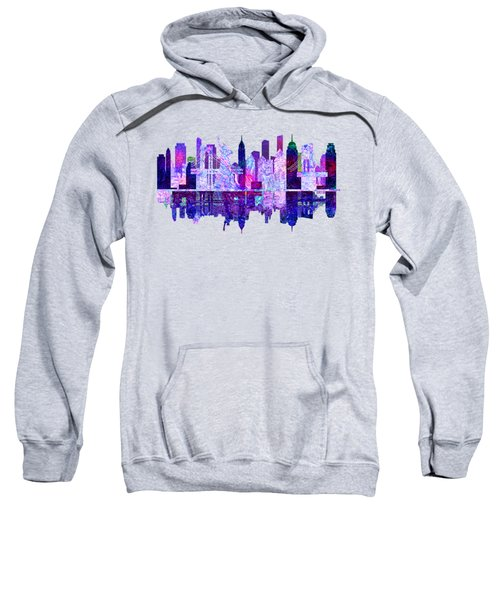 New York Skyline Red Sweatshirt by John Groves