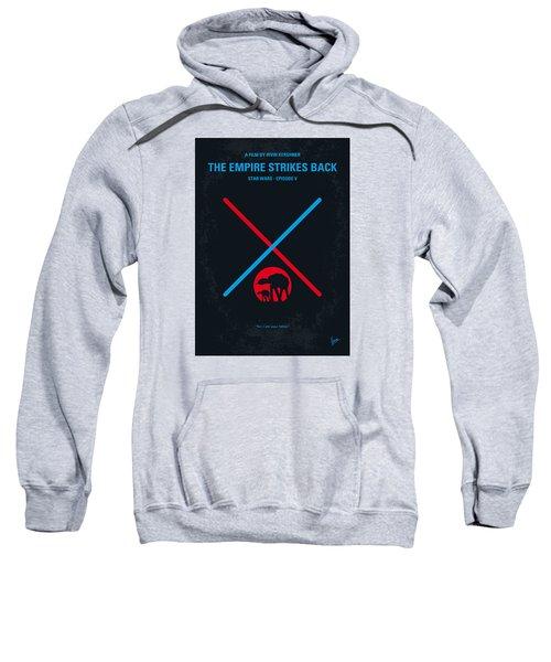 No155 My Star Wars Episode V The Empire Strikes Back Minimal Movie Poster Sweatshirt by Chungkong Art
