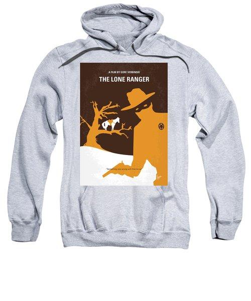 No202 My The Lone Ranger Minimal Movie Poster Sweatshirt by Chungkong Art