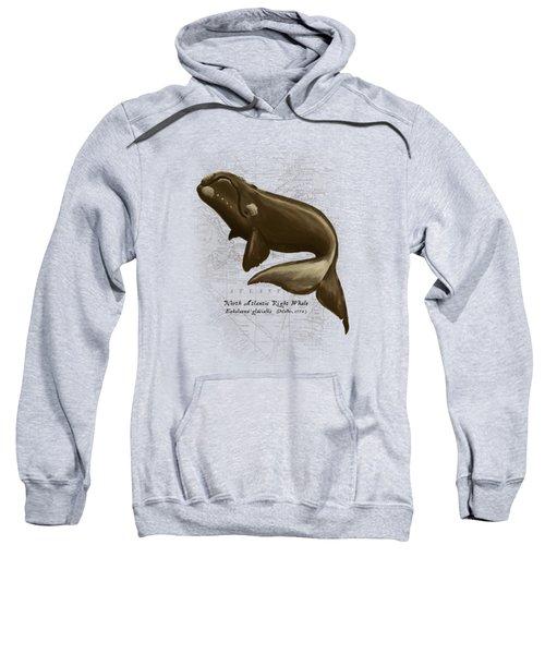 North Atlantic Right Whale Sweatshirt by Amber Marine
