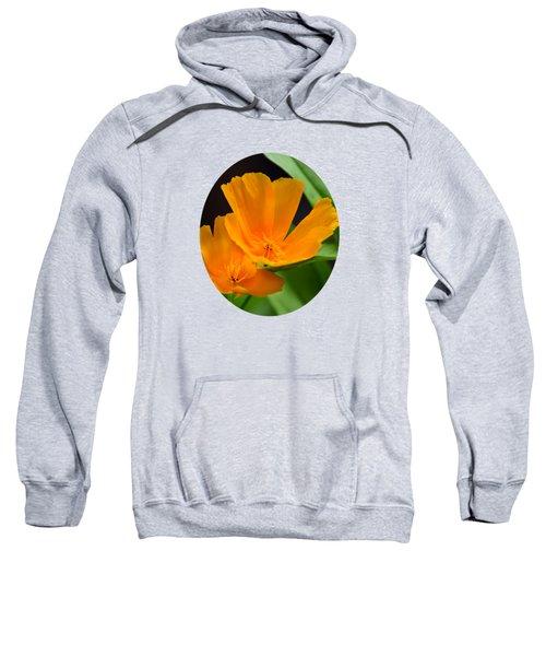 Orange California Poppies Sweatshirt by Christina Rollo
