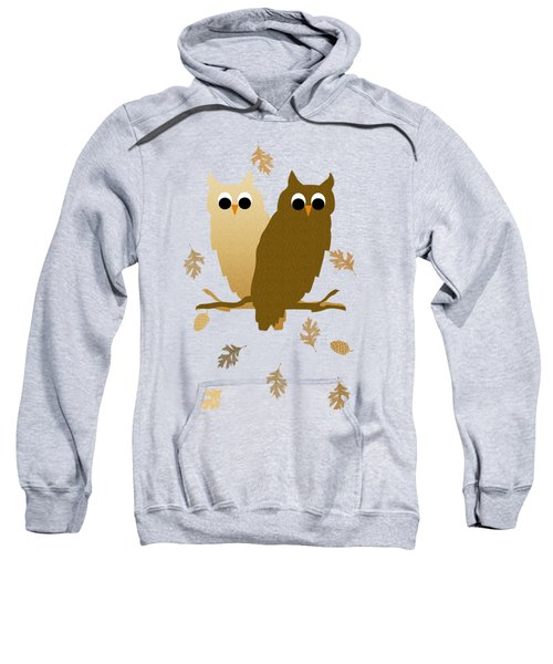Owls Pattern Art Sweatshirt by Christina Rollo