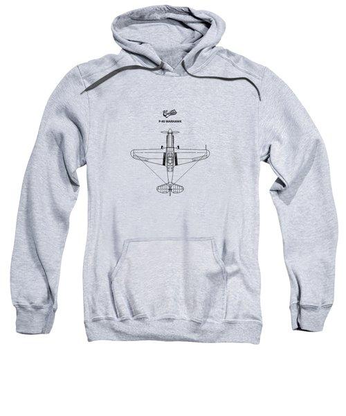 P-40 Warhawk Sweatshirt by Mark Rogan