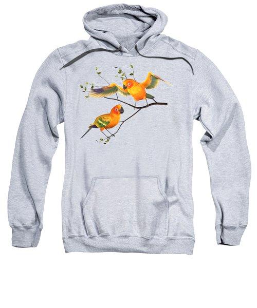 Parrots Conure Sweatshirt by Diane Leenknegt