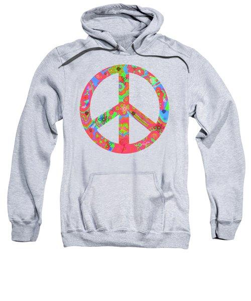 Peace Sweatshirt by Linda Lees