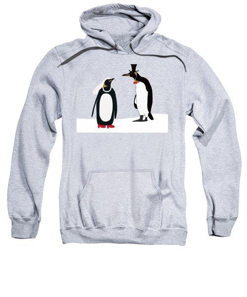 Penguin Marriage Sweatshirt by Priscilla Wolfe