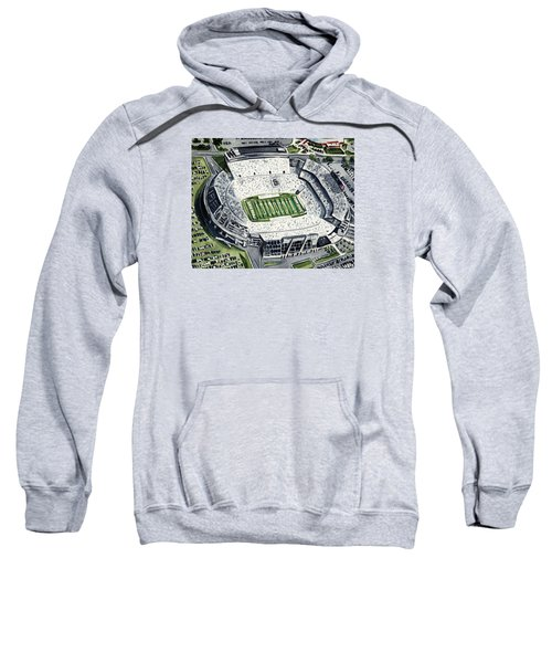 Penn State Beaver Stadium Whiteout Game University Psu Nittany Lions Joe Paterno Sweatshirt by Laura Row