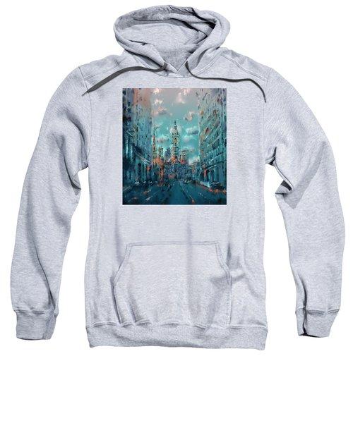 Philadelphia Street Sweatshirt by Bekim Art