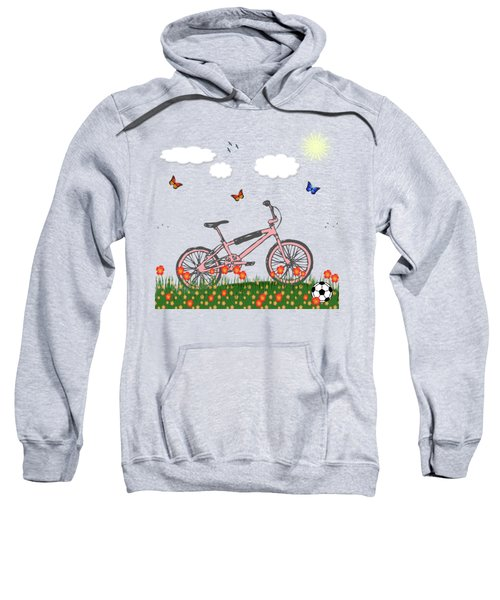Pink Bicycle Sweatshirt by Gaspar Avila