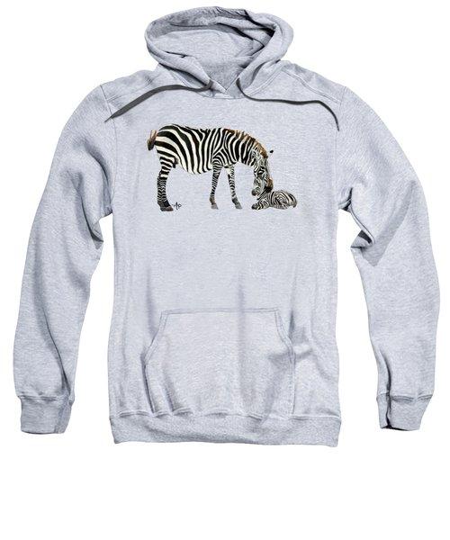 Plains Zebras Sweatshirt by Angeles M Pomata