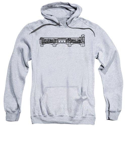 Ponte Vecchio Florence Tee Sweatshirt by Edward Fielding