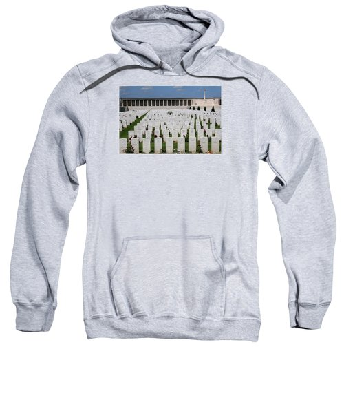 Sweatshirt featuring the photograph Pozieres British Cemetery by Travel Pics