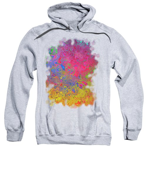 Psychedelic Laundry Transparent Design Sweatshirt by Shelly Weingart