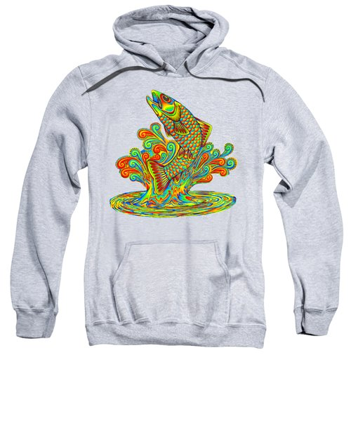Rainbow Trout Sweatshirt by Rebecca Wang