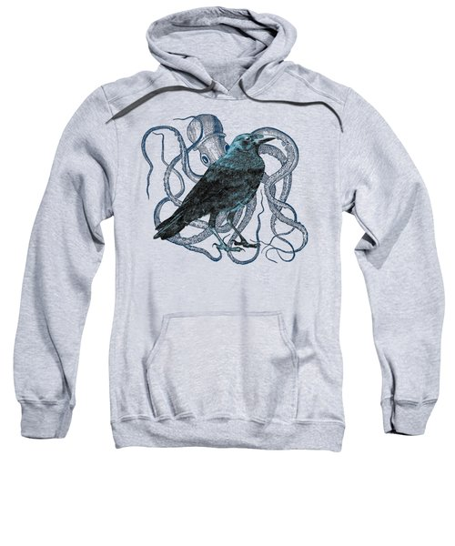 Raven Dreams Of The Octopus Sweatshirt by Sandra McGinley