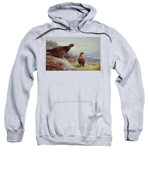 Red Grouse On The Moor, 1917 Sweatshirt by Archibald Thorburn