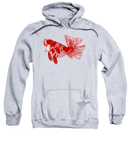 Red Ranchu Sweatshirt by Shih Chang Yang