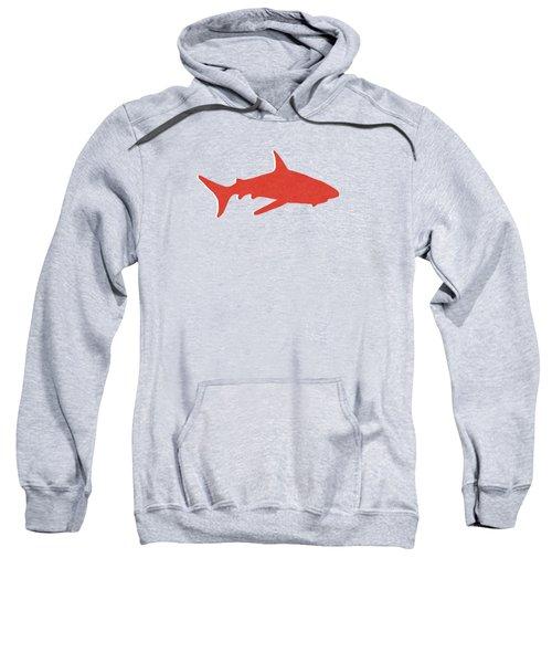 Red Shark Sweatshirt by Linda Woods