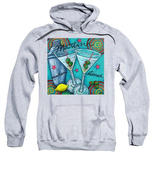 Retro Martini Sweatshirt by Lisa  Lorenz