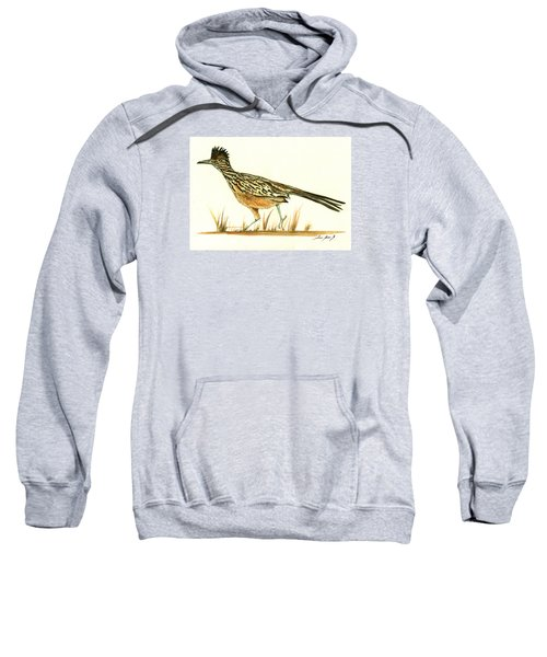 Roadrunner Bird Sweatshirt by Juan Bosco