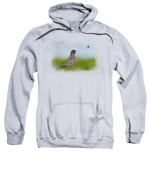 Robin In The Field Sweatshirt by Jai Johnson