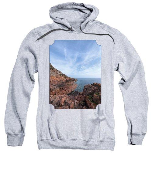 Rocky Ocean Inlet - Jersey Sweatshirt by Gill Billington