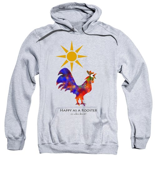 Rooster Pattern Aged Sweatshirt by Christina Rollo