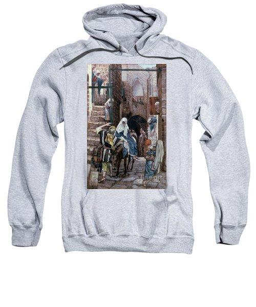 Saint Joseph Seeks Lodging In Bethlehem Sweatshirt by Tissot