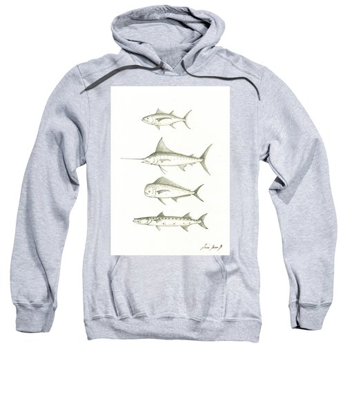 Saltwater Gamefishes Sweatshirt by Juan Bosco
