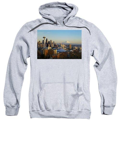 Seattle Cityscape Sweatshirt by Greg Vaughn - Printscapes