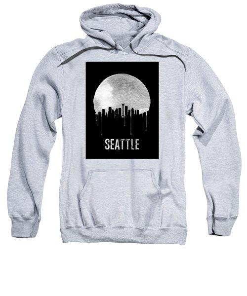 Seattle Skyline Black Sweatshirt by Naxart Studio