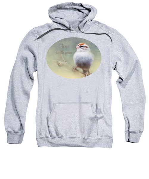 Serendipitous Sparrow - Quote Sweatshirt by Anita Faye