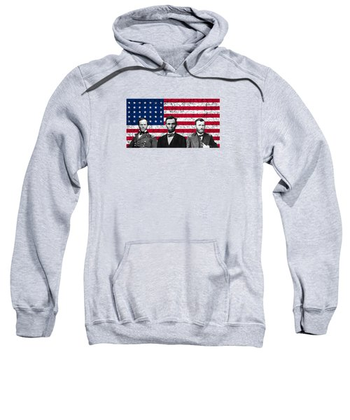 Sherman - Lincoln - Grant Sweatshirt by War Is Hell Store