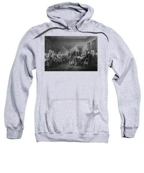 Signing The Declaration Of Independence Sweatshirt by War Is Hell Store