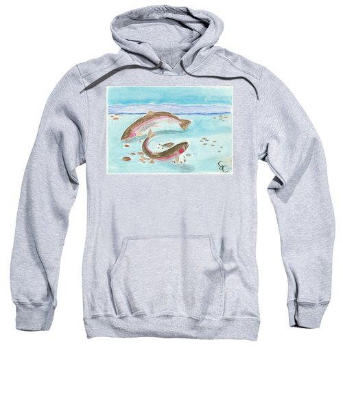 Spawning Rainbows Sweatshirt by Gareth Coombs