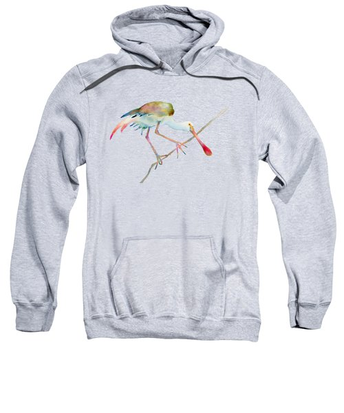 Spoonbill  Sweatshirt by Amy Kirkpatrick