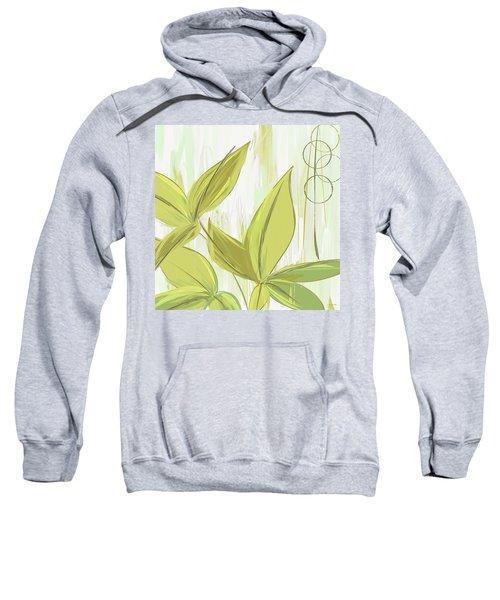 Spring Shades - Muted Green Art Sweatshirt by Lourry Legarde